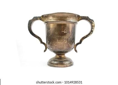 A Vintage Tarnished Silver Trophy