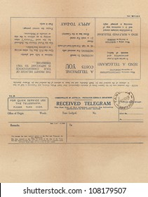 Vintage telegram setup for front and back printing