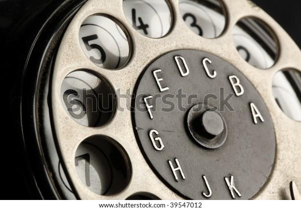 vintage telephone detail