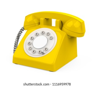 Vintage Telephone Isolated. 3D rendering