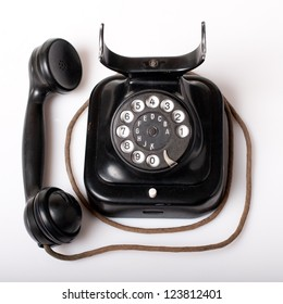 Vintage telephone with marks of use