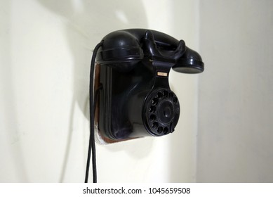 vintage telephone, old style communication concept