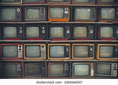 Vintage television background.