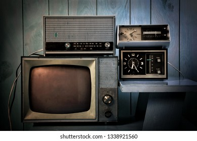 Vintage Television and old radios