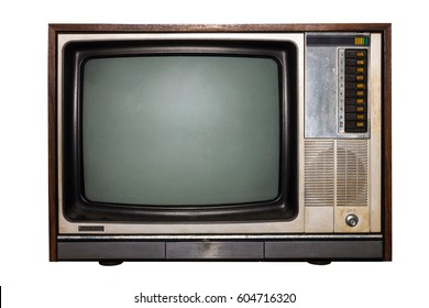 Vintage television, Old TV isolate on white background.