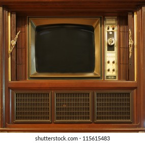 A vintage television set from about sixty years ago