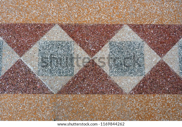 Vintage Terrazzo Flooring Colors Patterns Stock Photo Edit