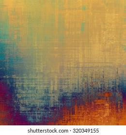 Vintage texture. With different color patterns: yellow (beige); blue; red (orange); green