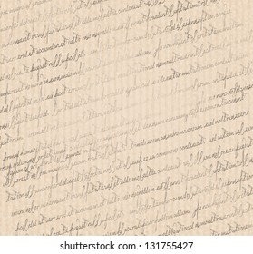 Vintage texture, pattern of a vintage old striped grungy paper with hand writing
