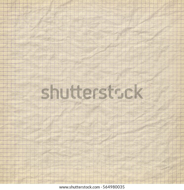 Vintage Textured Background Crumpled Paper Grid Stock Photo (Edit ...