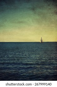 vintage textured picture of the boat