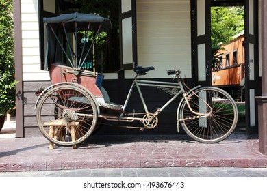vintage  Thai pedicab taxi