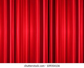 Vintage theatre curtain texture