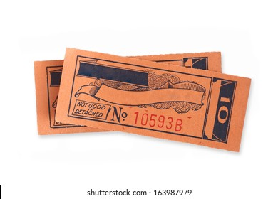 Vintage ticket stubs with copy space for text