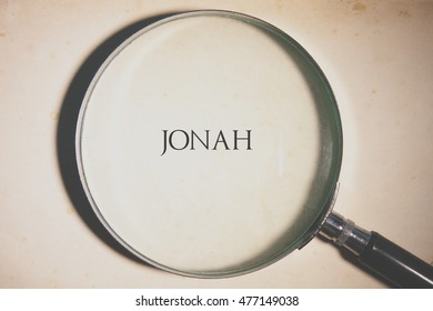 Vintage tone of the Bible book of Jonah