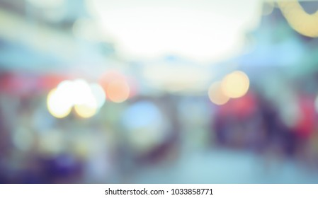 Vintage tone blurred defocused light bokeh abstract background