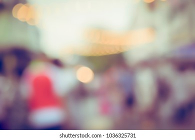 Vintage tone blurred defocused lights bokeh background