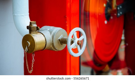 Vintage tone fire pump on outdoor