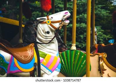Vintage toned picture of an amusement park