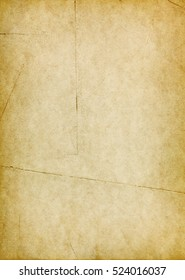 Vintage torn paper with folds and dark shabby edges