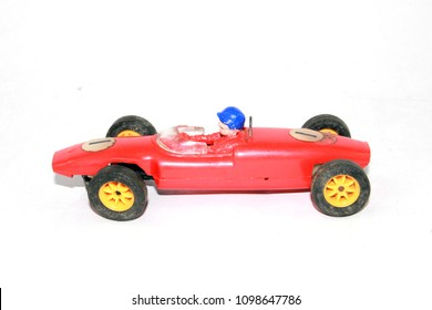 Vintage Toy Racing Cars in Red