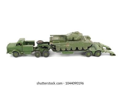 Vintage Toy Truck Ambulance Army Tank