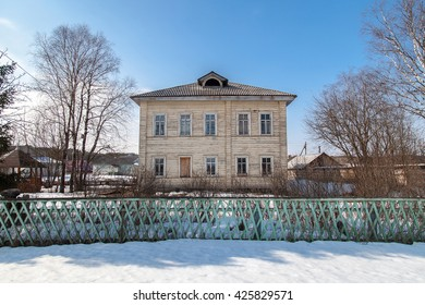 Vintage traditional russian aristocrtatic house