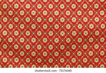 Vintage traditional Thai handmade fabric texture background