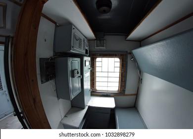 vintage train car for criminals