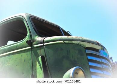 Vintage truck cab