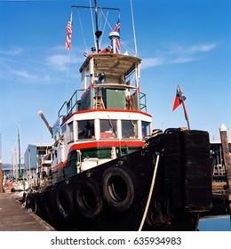 Vintage tug boat in Port Orchard, Washington.
