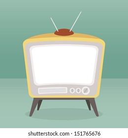 vintage tv color isolated