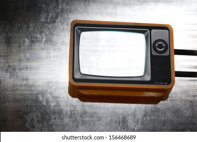 Vintage TV isolated