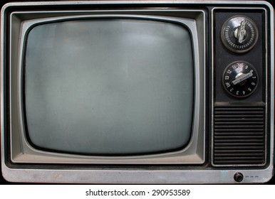A Vintage TV screen background with grunge and grime on it.