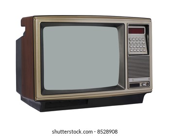 Vintage TV set - angle view
