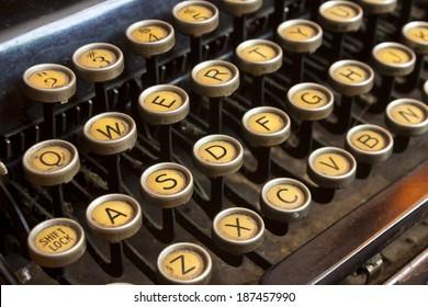 Vintage Type Writer Keys