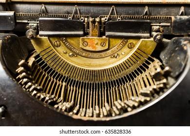 vintage typewriter close-up