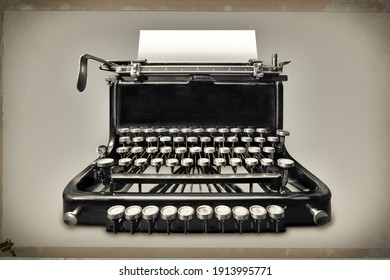 vintage typewriter with copy space