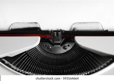 Vintage typewriter with copy space