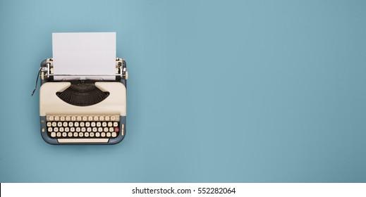 Vintage-Schreibmaschine-Header
