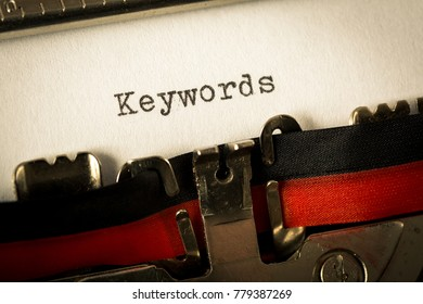 "Vintage typewriter ""Keywords"""