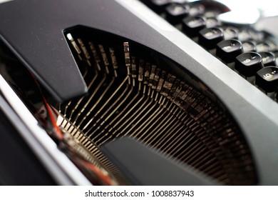 Vintage typewriter, old times