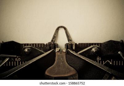 Vintage typewriter  retouching retro