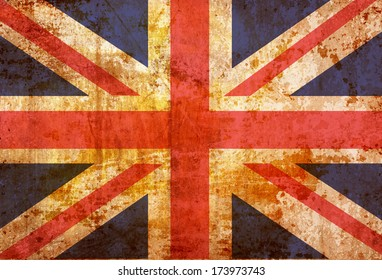 Vintage United kingdom flag grunge background