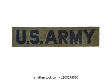 Vintage US Army patch for a uniform isolated on white