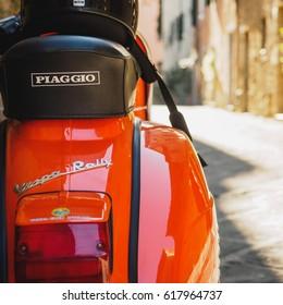 Vintage Vespa Piaggio. Italy, 2017.