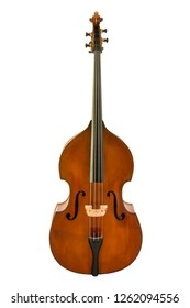Vintage of viola isolated on white background, clipping path.