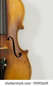 Vintage viola on white background