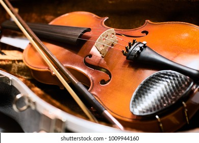 Vintage violin isolated on white background