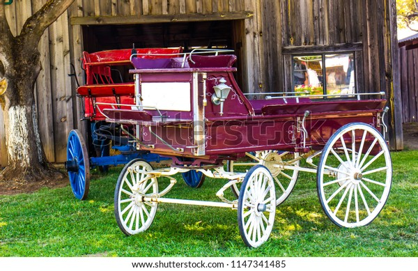 Vintage Wagons On Display At Local County